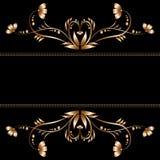 Яркая граница цветков золота Стоковое Фото