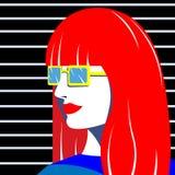 Яркая девушка моды в стиле искусства попа смогите конструктор каждый вектор оригиналов предмета evgeniy графиков независимый kote бесплатная иллюстрация