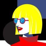 Яркая девушка моды в стиле искусства попа смогите конструктор каждый вектор оригиналов предмета evgeniy графиков независимый kote иллюстрация штока