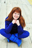 яркая девушка redheaded Стоковое Изображение