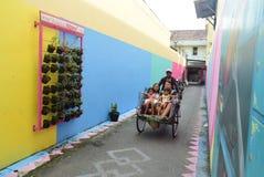 Яркая деревня газа в городе Semarang Стоковые Изображения