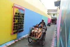 Яркая деревня газа в городе Semarang Стоковое Изображение RF