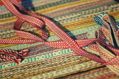 Яркая лента для ремесел, этнический славянский пояс Стоковая Фотография