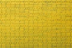 Яркая желтая кирпичная стена текстуры кирпичи много стоковое фото