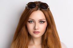 яркая женщина волос Стоковое Фото