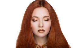 яркая женщина волос Стоковые Изображения