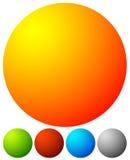 Яркая, живая кнопка, элементы дизайна значка с пустым пространством Стоковые Изображения