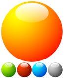 Яркая, живая кнопка, элементы дизайна значка с пустым пространством Стоковое Изображение RF