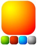 Яркая, живая кнопка, элементы дизайна значка с пустым пространством Стоковые Фото