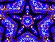 Яркая занятая и голубая регулярн звезда пентаграммы иллюстрация вектора