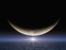 яркая звезда усмешки луны Стоковые Фотографии RF