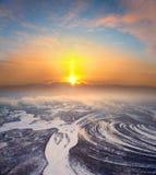 яркая зима восхода солнца Стоковые Фотографии RF