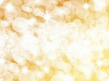 Яркая золотая серебряная предпосылка точки Стоковое фото RF