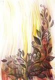 Яркая иллюстрация цвета листьев и скручиваемостей Стоковое фото RF