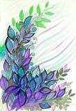 Яркая иллюстрация цвета листьев Стоковое фото RF