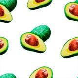Яркая картина акварели лета плода: авокадо иллюстрация вектора
