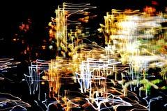 Яркая картина в линиях, нашивках и пятнах цвета различных Стоковое Фото