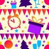 Яркая картина рождества, безшовная предпосылка Стоковая Фотография