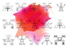 Яркая картина священной предпосылки onwatercolor геометрии Vecto Стоковые Фото