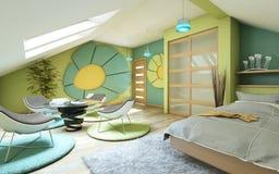 Яркая комната детей Стоковые Фото