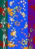 яркая конструкция флористическая Стоковые Изображения