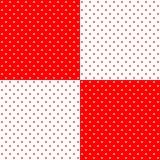 Яркая красная и белая ретро картина предпосылки точек польки дизайна, Стоковые Изображения RF