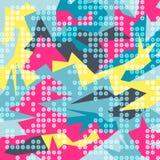 Яркая красочная абстрактная картина полигонов иллюстрация штока