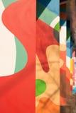 Яркая красочная абстрактная стена Стоковые Фото