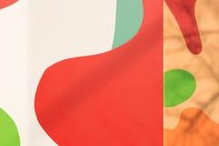 Яркая красочная абстрактная стена Стоковая Фотография RF
