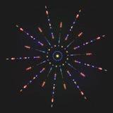 Яркая красочная излучающая звезда блеска иллюстрация вектора