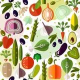 Яркая красочная картина с овощами Иллюстрация вектора