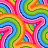 Яркая красочная предпосылка линий элемента конспекта волнистых изогнутых для дизайна продаж рекламы знамен для дела бесплатная иллюстрация