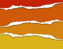 Яркая красочная сорванная бумажная предпосылка с тенью Стоковые Изображения