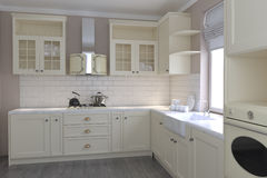 Яркая кухня в стиле Провансали стоковое фото rf