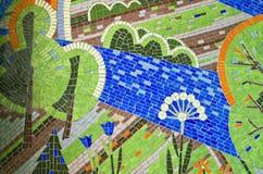 Яркая мозаика на стене Стоковое Фото