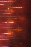Яркая неоновая линия в тумане Стоковые Фотографии RF