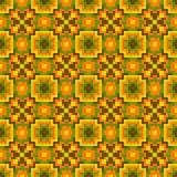 Яркая оранжевая безшовная картина Стоковая Фотография