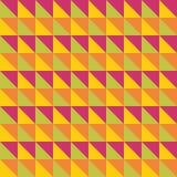 Яркая пестротканая безшовная картина треугольники Стоковые Фотографии RF