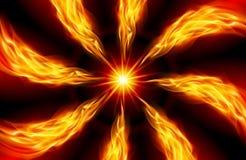 яркая пламенистая звезда иллюстрация штока