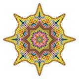 Яркая покрашенная мандала Восточная картина украшения Стоковые Изображения RF