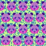 Яркая покрашенная полигональная предпосылка картины панды Стоковая Фотография