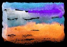 Яркая покрашенная текстура акварели Стоковое Изображение RF