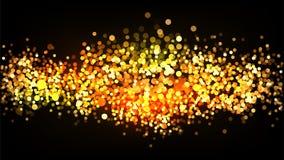 Яркая предпосылка вектора яркого блеска золота Стоковая Фотография