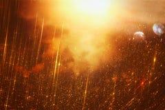 Яркая предпосылка галактики или фантазии свет взрыва конспекта концепция волшебных и тайны Стоковое Изображение RF