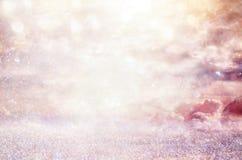 Яркая предпосылка галактики или фантазии свет взрыва конспекта концепция волшебных и тайны Стоковое Фото