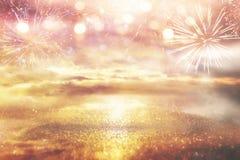 Яркая предпосылка галактики или фантазии свет взрыва конспекта концепция волшебных и тайны Стоковая Фотография RF