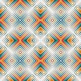 Яркая предпосылка конспекта мозаики цветного стекла Стилизованный орнамент калейдоскопа геометрическая картина безшовная иллюстрация вектора