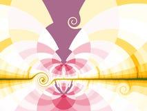 Яркая предпосылка с стилизованным солнцем Стоковые Фото