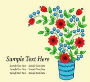 Яркая предпосылка с цветками в баке Стоковая Фотография