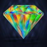 Яркая драгоценная камень радуги Радужный кристаллический значок бесплатная иллюстрация